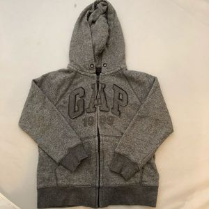 Gap marled gray zip up hoodie